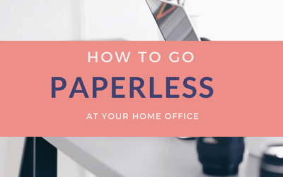 How to go paperless at your Home Office