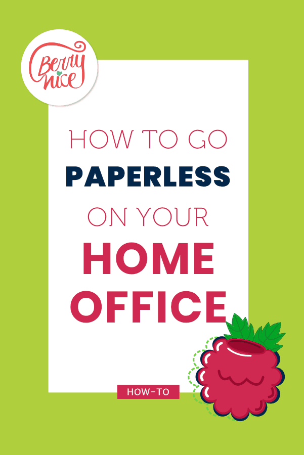 How to go paperless at your Home Officea